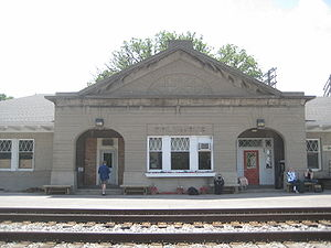 Train Depot in Columbus, Wisconsin
