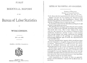 Wisconsin Bureau of Labor Statistics First Biennial Report 1883-1884