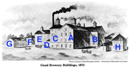 Empire Brewery 1873, as seen from the southeast