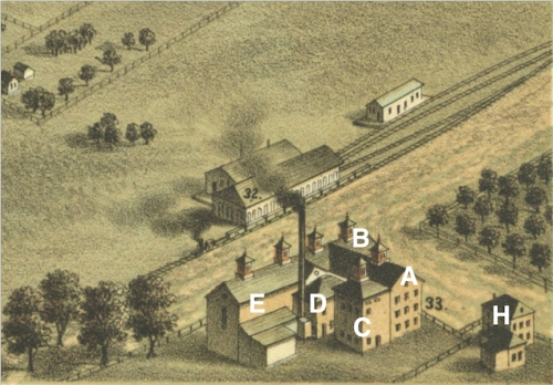 Empire Brewery 1876, as seen from the southwest