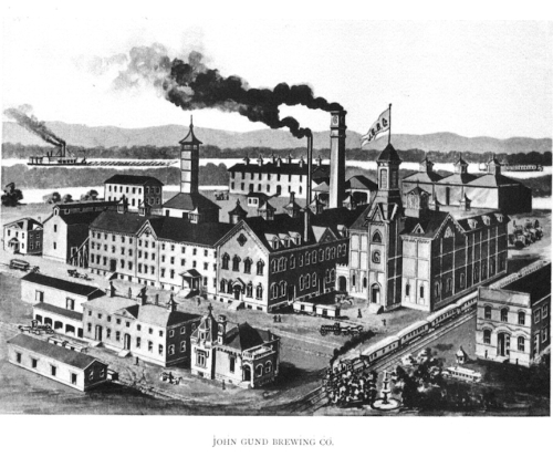 John Gund Brewing Company 1892, as seen from the northeast