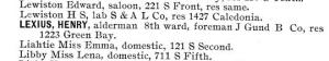 Henry Lexius, La Crosse (Wis.) City Directory, 1893